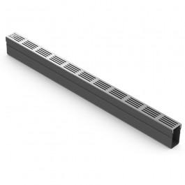 ACO slimline met designrooster aluminium