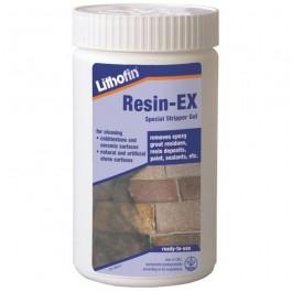 lithofin resin ex verwijdert en lost op