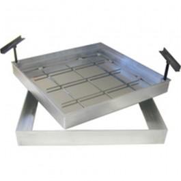 versterkte tegeldeksels met geurdichting in aluminium 50/50