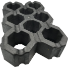 Grasdal PE 60 x 40 x 10 cm Zwart per stuk