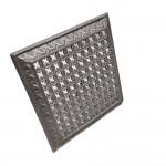 Aluminium muurrooster - klaver 28.5 x 28.5cm