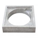 Prefab betonrand voor Ø250mm deksel
