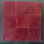 Zelliges Rouge Acajou 10x10cm m²