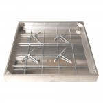 Tegeldeksel dichting aluminium 6cm 60x60