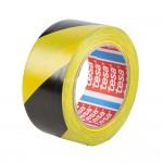 tesa® 60760 Marking Tape Geel/Zwart 33m/50mm