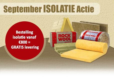 gratis verzending isolatie september actie