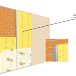 Na-isoleren langs de binnenzijde met een voorzetwand