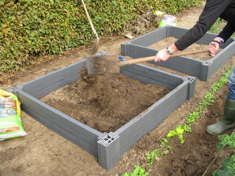 Vierkante meter moestuin met  u0026quot;Ecoplanc u0026quot; gerecycleerd afval  Alleen maar voordelen