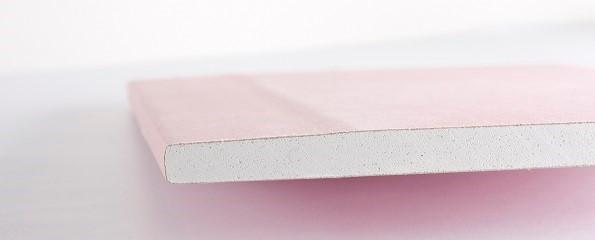 Knauf gipsplaat roze
